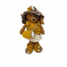 "Crochet G.D Kledingset ""Shopping Girl Oker"""